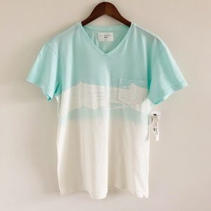 Men's NWT Sol Angeles Blue Wave Ombre Pocket Tee M